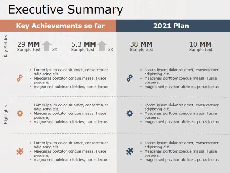 Animated Executive Summary PowerPoint Template 22