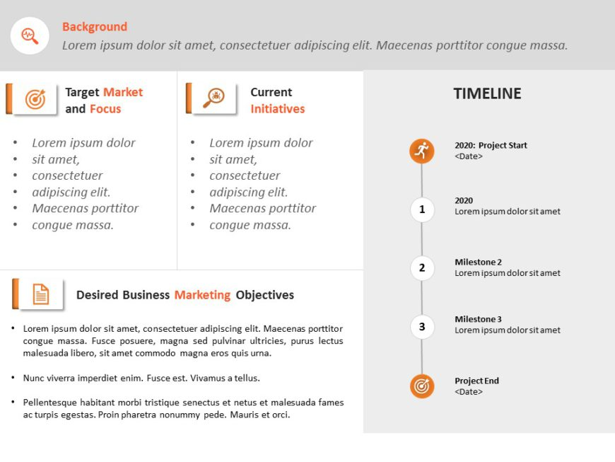 Animated Marketing Plan Executive Summary