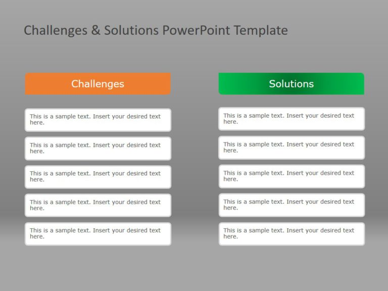 Animated Problem Solution PowerPoint Template