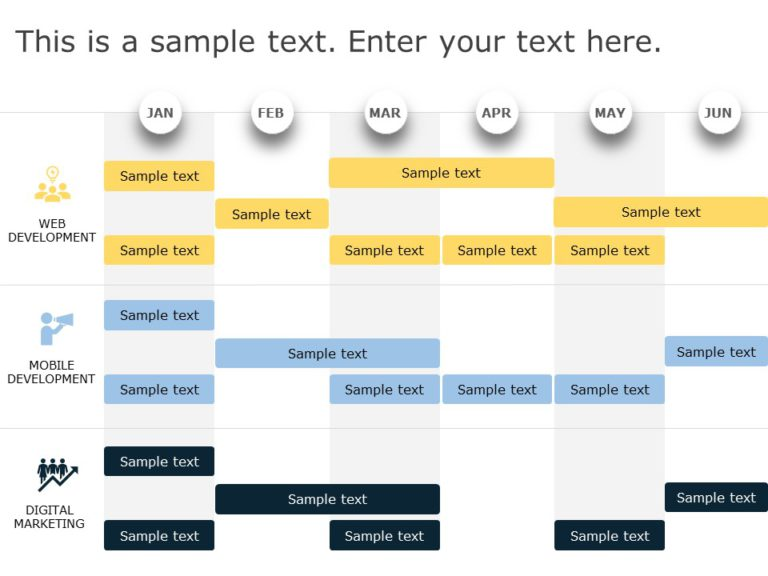 Animated Product RoadMap PowerPoint Template 15