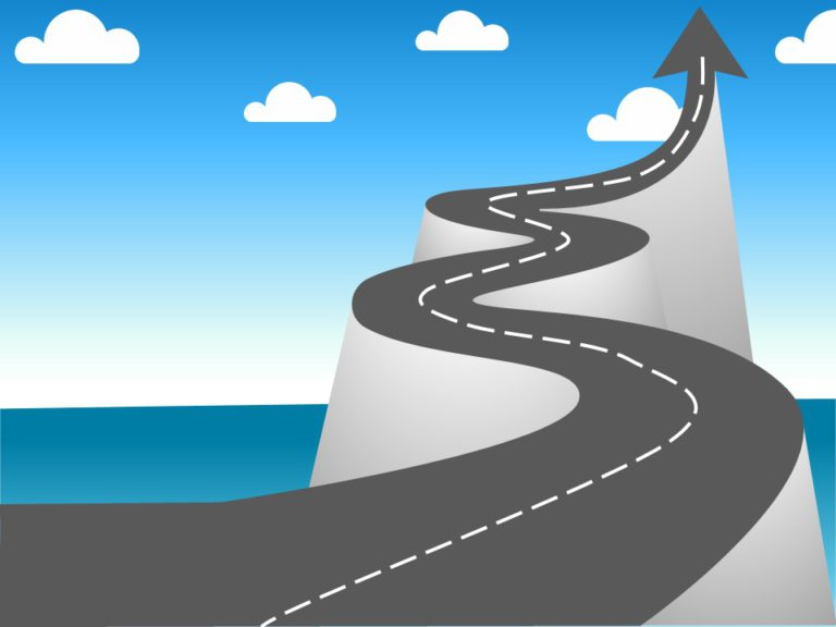 Animated Roadmap Curved
