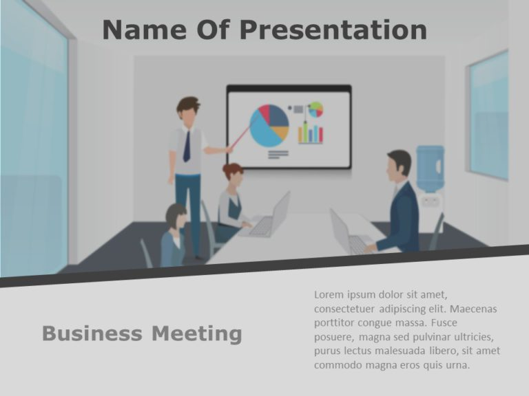Business Review Presentation Title