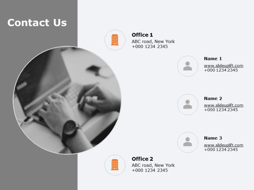 Contact Us Slide