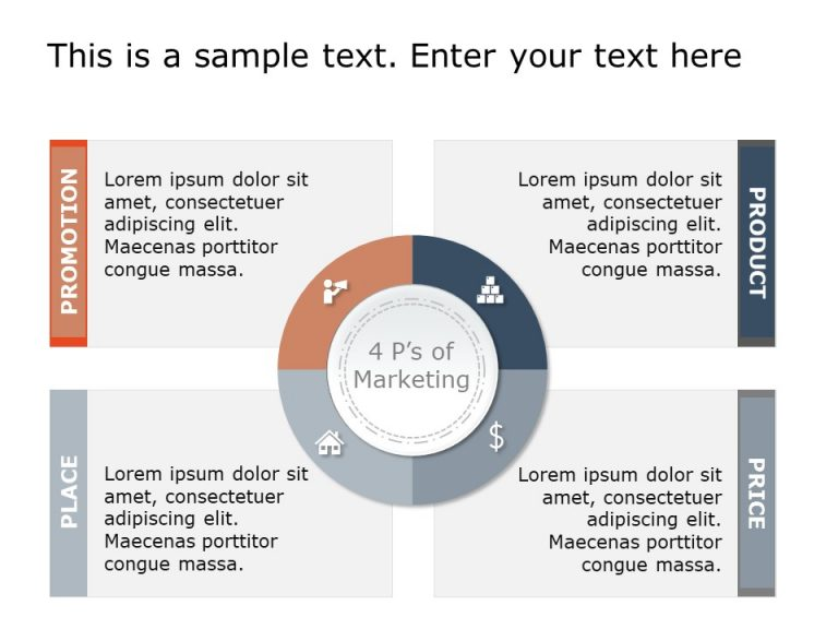 4 P's Marketing PowerPoint Template