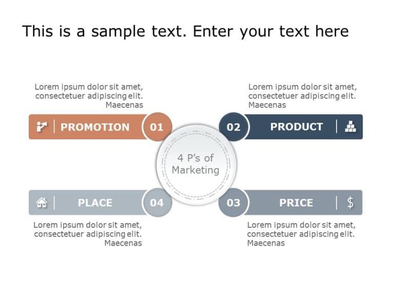 4 P's Marketing Mix Template