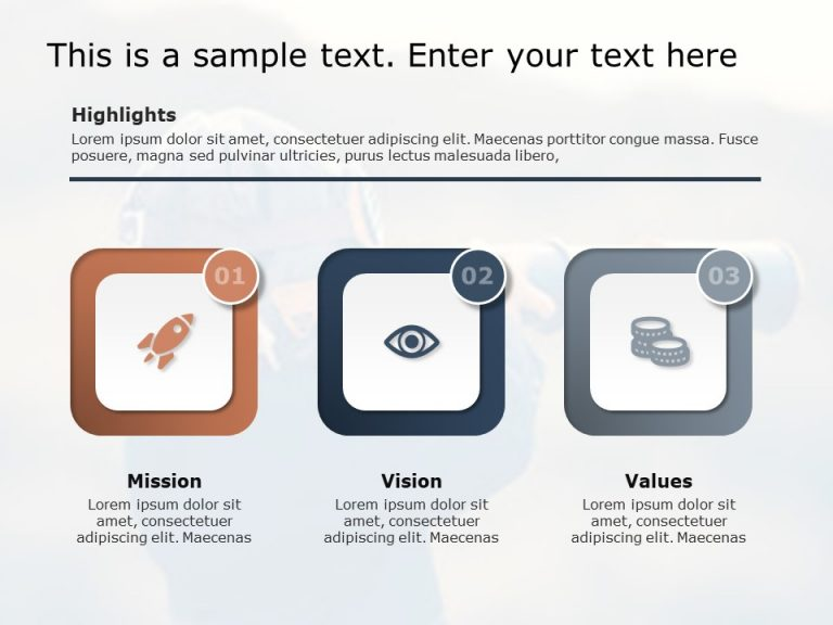Mission Vision Values PPT Template