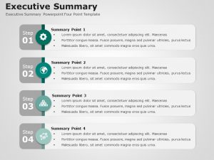 Executive Summary Powerpoint Four Point Template 2
