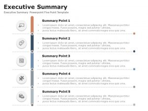 Executive Summary Powerpoint Five Point Template