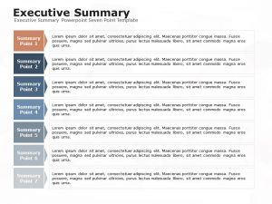 Executive Summary Powerpoint Seven Point Template