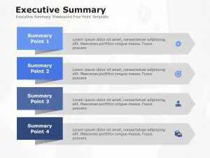 Executive Summary Powerpoint Four Point Template