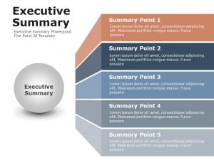 Executive Summary Powerpoint Five Point 3d Template