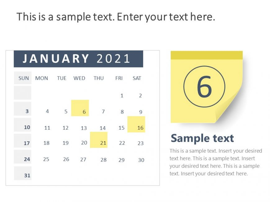 Calendar PowerPoint Template for 2021