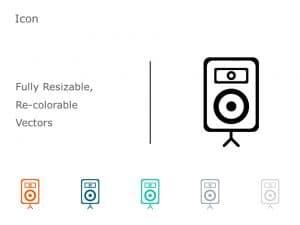 Speakers Icon Vector 3