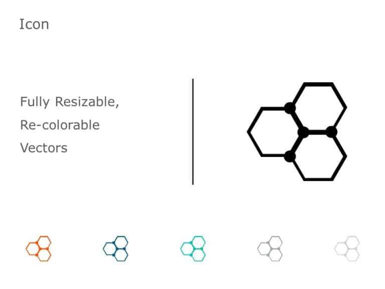 Organic Molecule Hexagons PowerPoint Icon 32