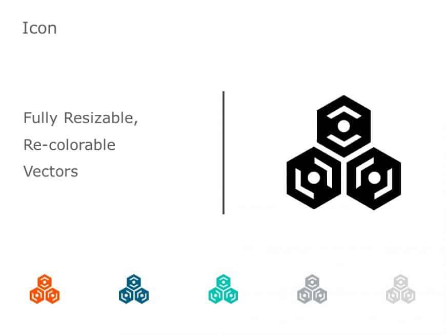 Organic Molecule Hexagons PowerPoint Icon 33