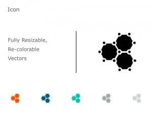 Organic Molecule Hexagons PowerPoint Icon 34