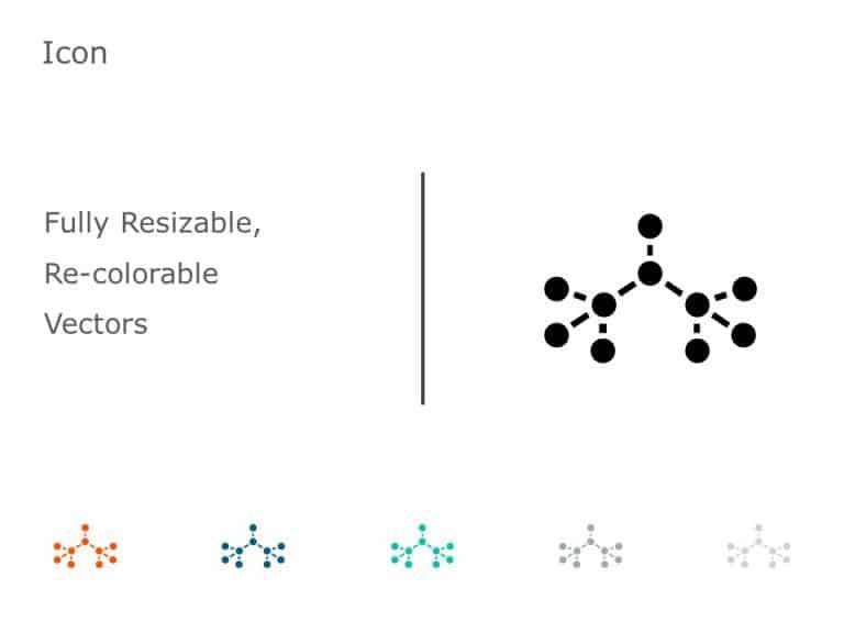 Organic Molecule Hexagons PowerPoint Icon 35