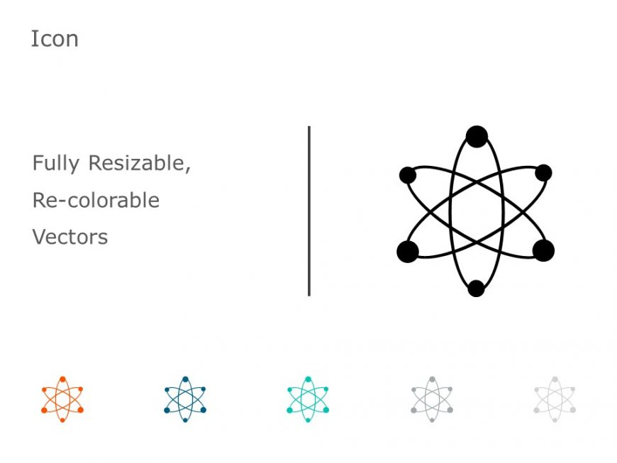 Organic Molecule Hexagons Electron PowerPoint Icon 36