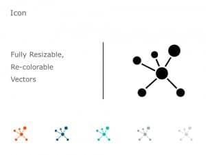 Organic Molecule Hexagons PowerPoint Icon 37