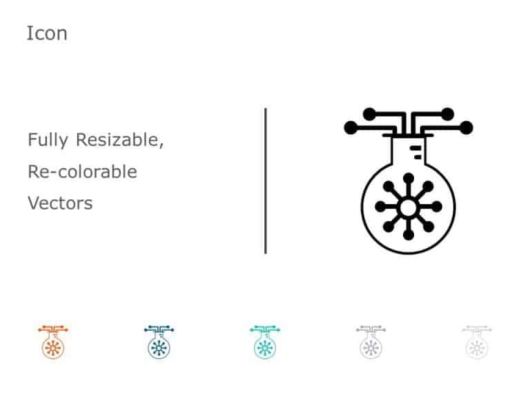 Beaker Flask Molecule PowerPoint Icon 38