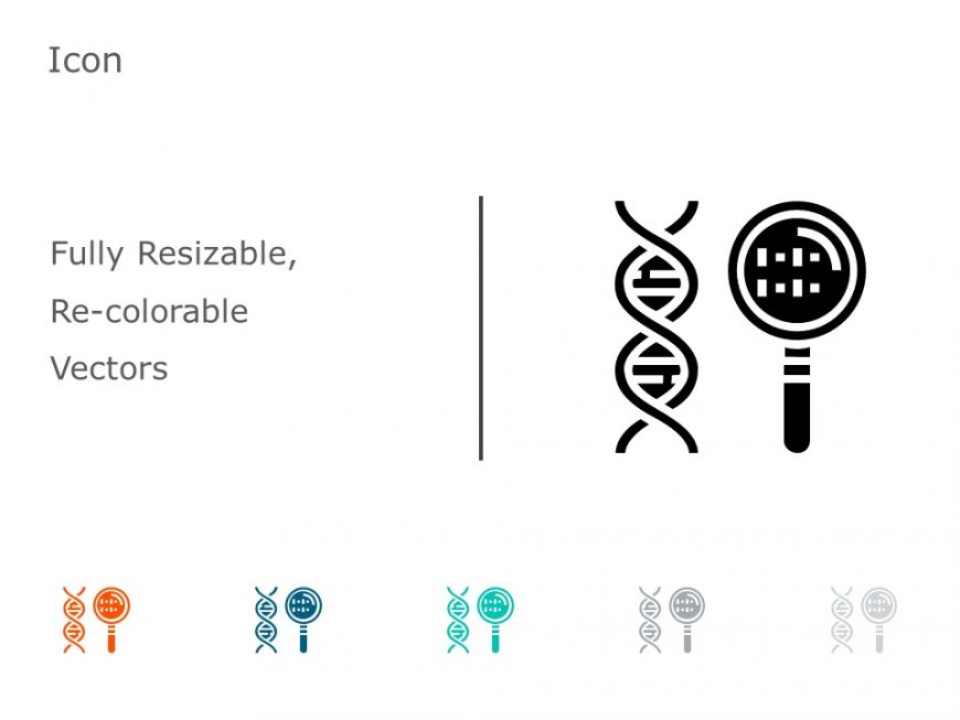 DNA Helix Search PowerPoint Icon 39