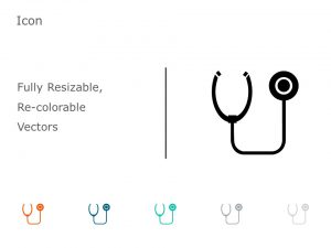 Stethoscope PowerPoint Icon 45