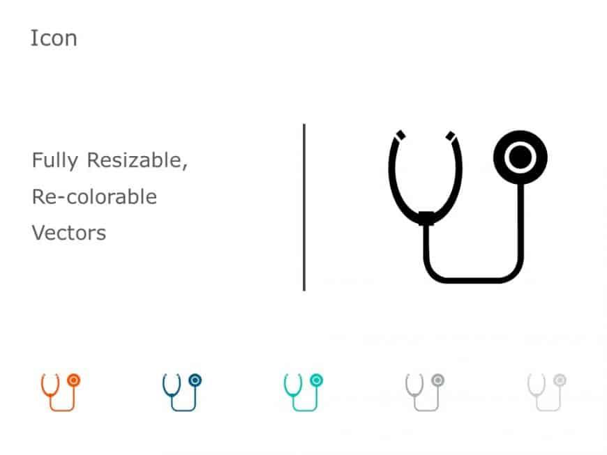 Stethoscope PowerPoint Icon 45