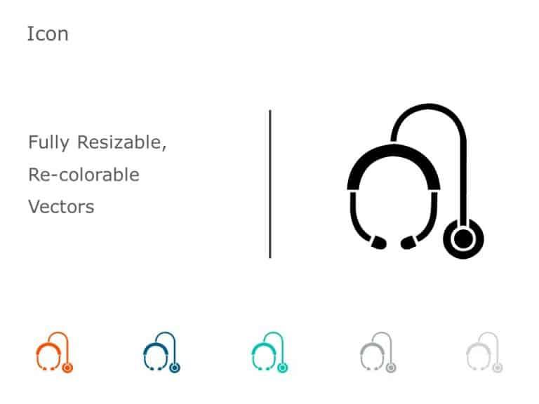 Stethoscope PowerPoint Icon 47
