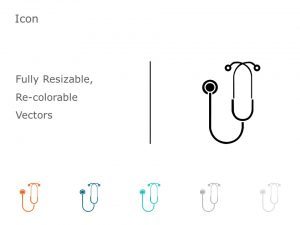 Stethoscope PowerPoint Icon 50
