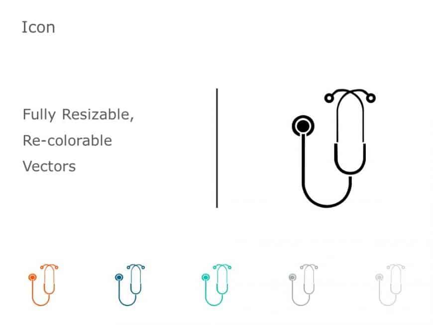 Stethoscope PowerPoint Icon 50