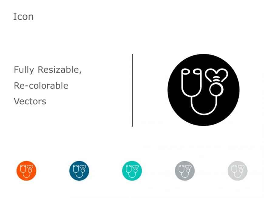Stethoscope PowerPoint Icon 52