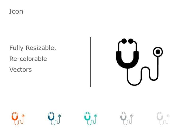 Stethoscope PowerPoint Icon 54