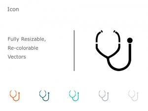 Stethoscope PowerPoint Icon 55