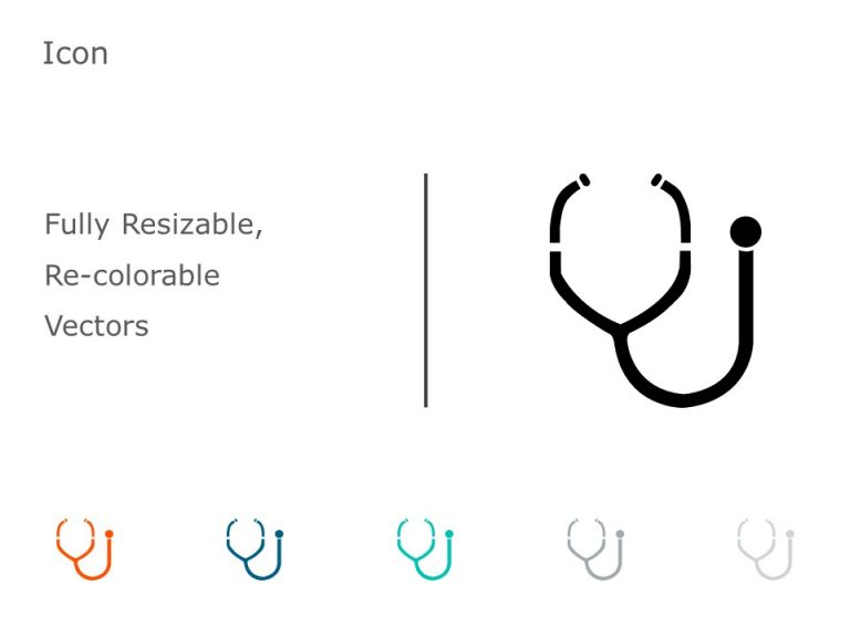 Stethoscope PowerPoint Icon 55