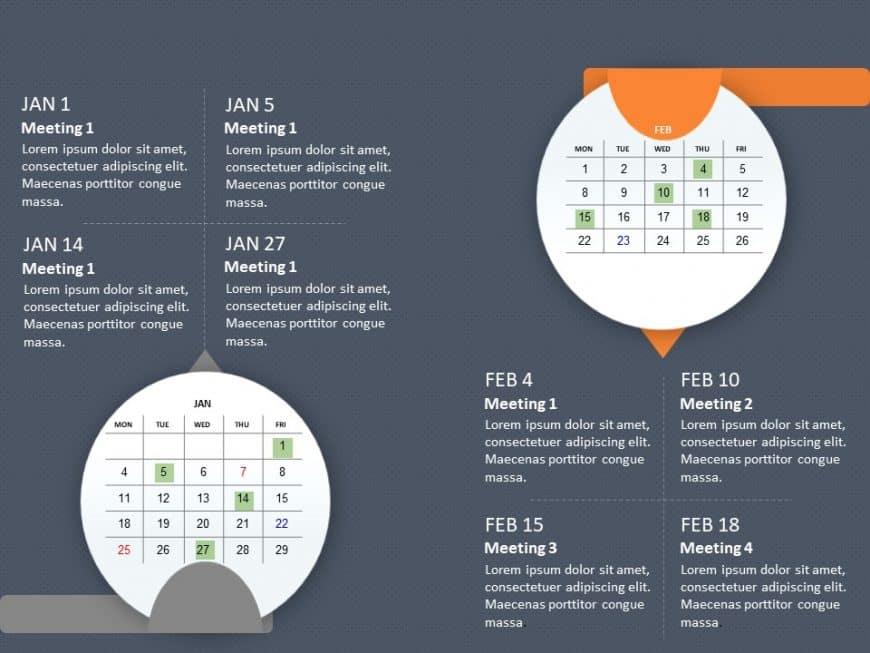 PowerPoint Calendar Template 2021