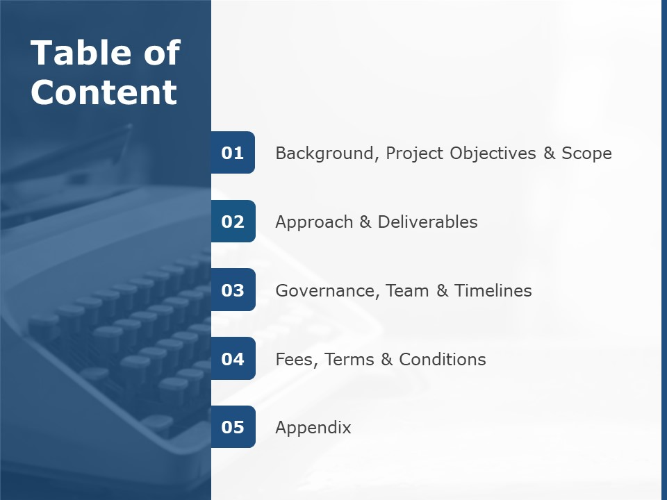 Table Of Contents Slide Table Of Contents Templates Slideuplift