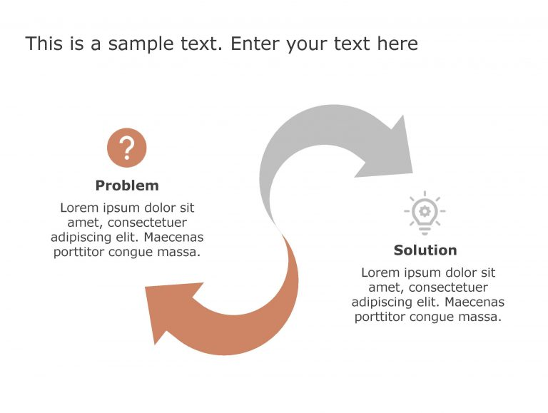 Problem Solution PowerPoint Template 80