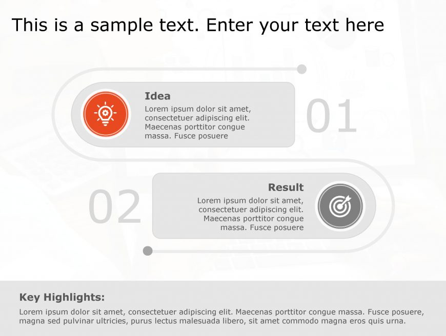 Idea Result PowerPoint Template 95