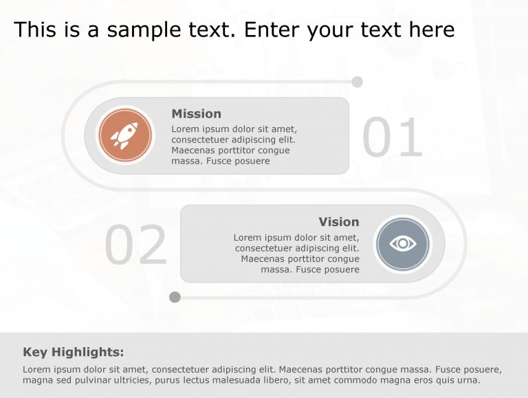 Vision Mission PowerPoint Template 99