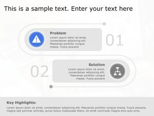 Problem Solution PowerPoint Template 101