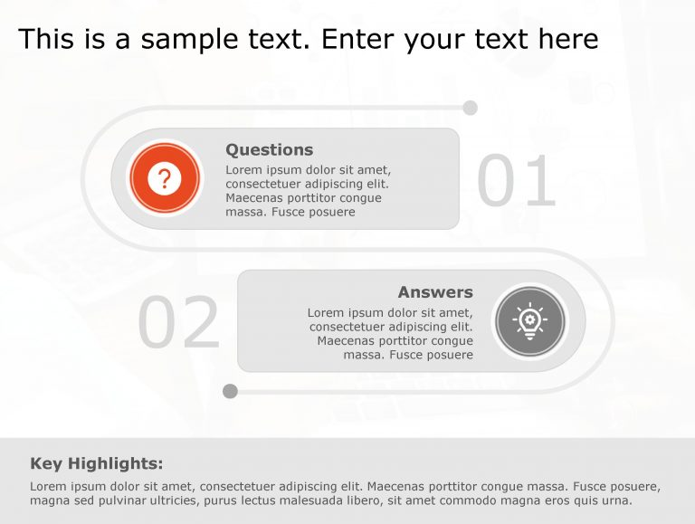 Question Answer PowerPoint Template 104