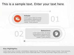 Values Behavior PowerPoint Template 106