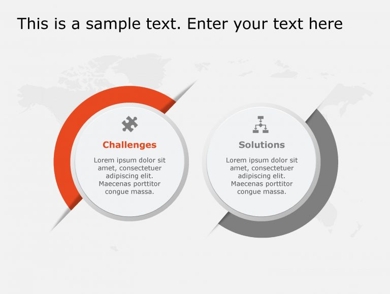 Challenges Solutions PowerPoint Template 111