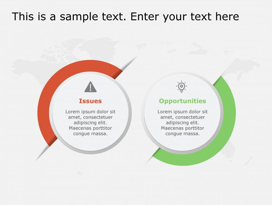 Issues Opportunities PowerPoint Template 117