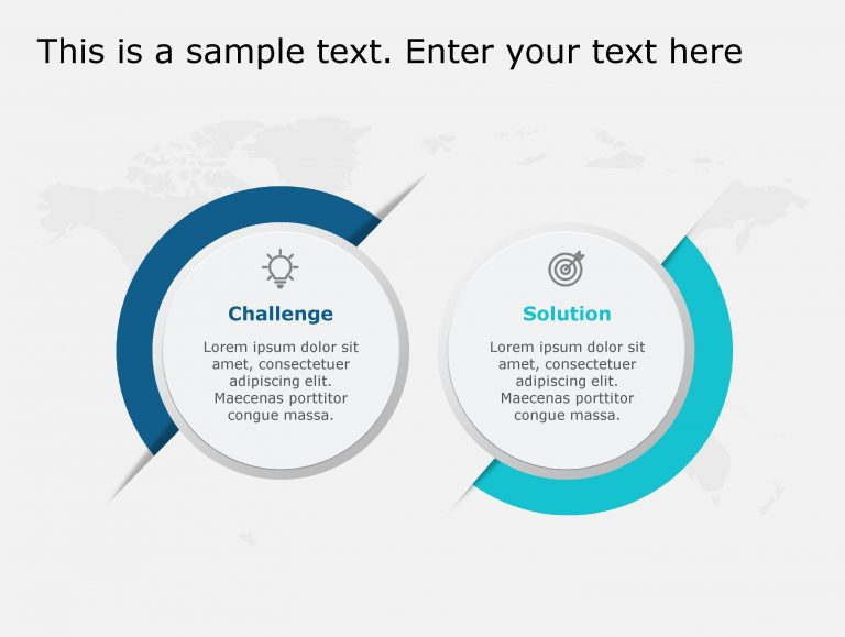 Challenges Solutions PowerPoint Template 118