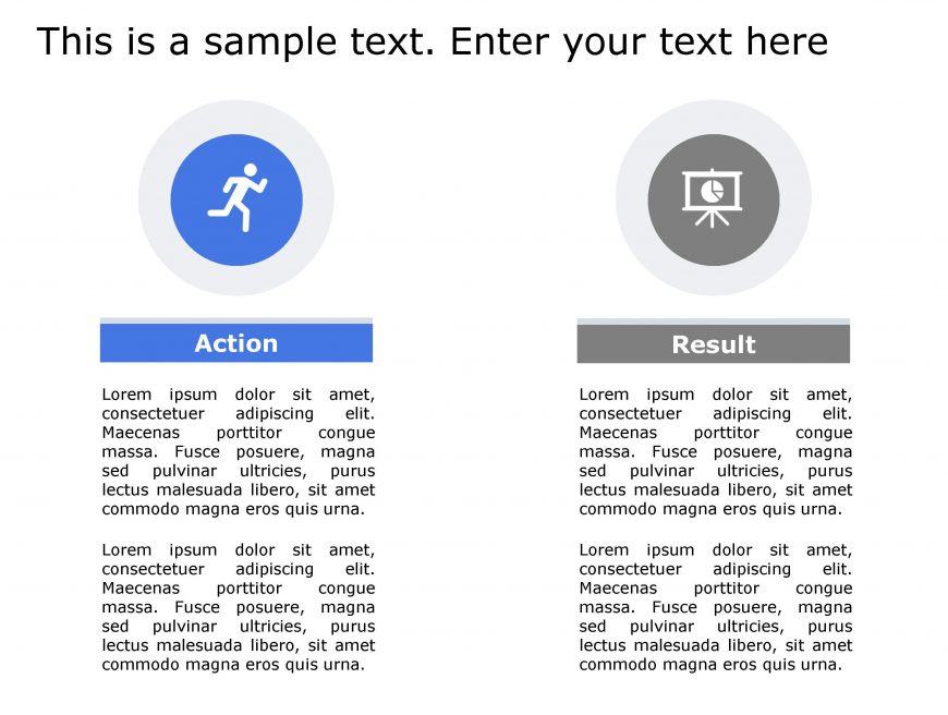 Actions Result PowerPoint Template 129