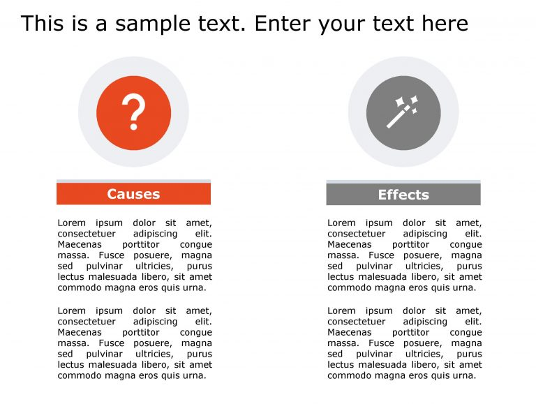 Cause Effect PowerPoint Template 131