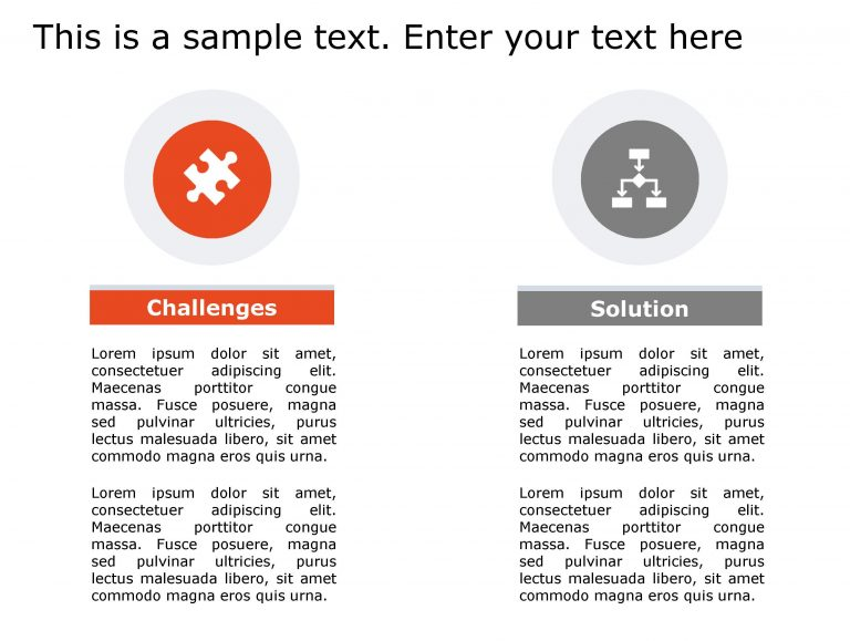 Challenges Solutions PowerPoint Template 132