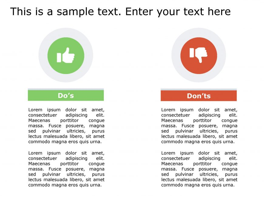 Dos Don'ts PowerPoint Template 134