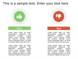 Good Bad PowerPoint Template 135